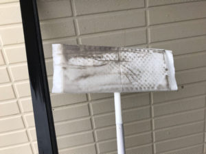 ウエットタイプのハンディーモップの汚れ部分
