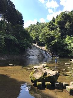 渓流遊びポイント粟又の滝