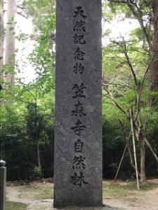 笠森寺自然林の石碑