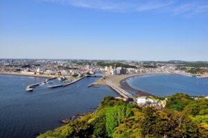 江ノ島頂上から見た湘南海岸