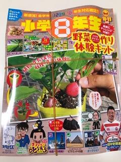 買ってきたばかりの小学8年生雑誌