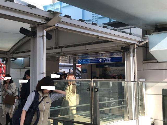 豊洲市場前駅の改札を出たところ