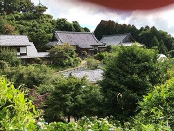 駐車場方面から見た妙法生寺
