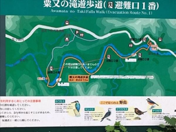 遊歩道の地図の看板