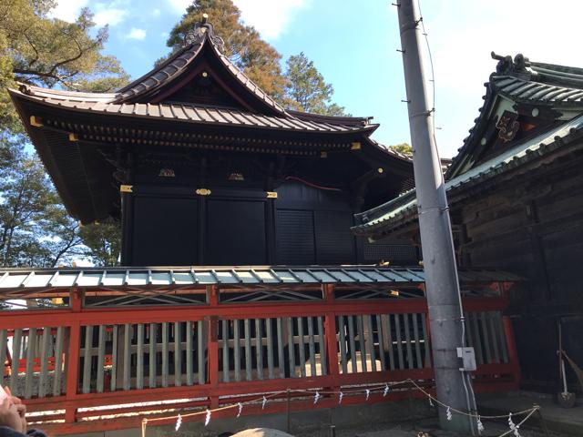 玉前神社の社殿横からの写真